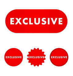 exclusive red button vector image