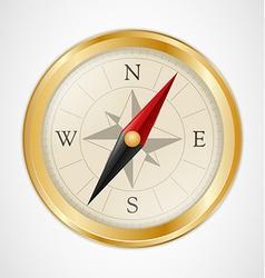 Golden Vintage Compass vector image