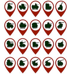 Badges with armored vehicles vector image vector image