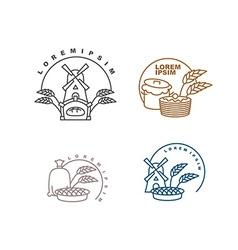 Bakery logo Bakery production logo Shop for sale vector image vector image