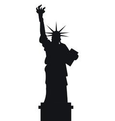 liberty statue american emblem vector image