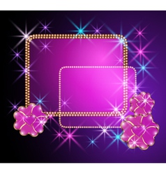 abstract starlight design vector image vector image
