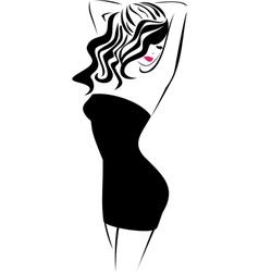 Fashion icon Girl vector image