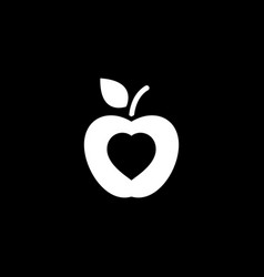 healthy eating icon flat design vector image vector image