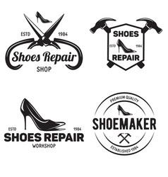 set of vintage logo badge emblem or logotype vector image vector image