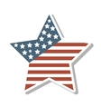 star with usa flag icon vector image