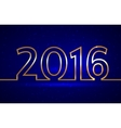 2016 new year greeting vector image vector image