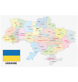 administrative and political map ukraine vector image