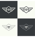 Badge with wings vector image vector image