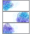 banners with watercolor background vector image vector image