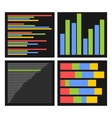 Benchmark Bars and Indicators Set vector image vector image