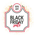 black friday concept vector image vector image