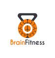 brain fitness instructor logo design template vector image vector image