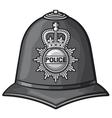 british police helmet vector image vector image