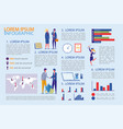 business infographic set with people and diagrams vector image vector image