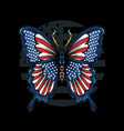 butterfly in colors flag united vector image vector image