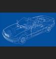car cabriolet concept vector image