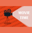 cinema background or banner movie time movie vector image vector image