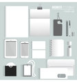 clean Blank corporate identity set of vector image