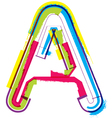 Colorful Grunge font Letter A vector image vector image