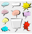 Comic icons speech bubble