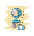 computer web cam cartoon vector image