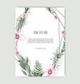 floral design card greeting postcard vector image vector image