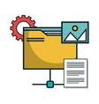 folder file document isolated icon vector image