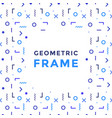 geometric shapes frame rectangles lines vector image