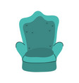 green chair comfort furniture isolated icon vector image vector image