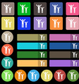 happy family icon sign Set from twenty seven vector image vector image