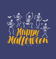 happy halloween card holiday vector image