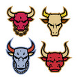 head bull logo icon designs with chain on neck vector image vector image