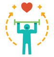 healthy life flat vector image vector image