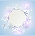 holiday background with white snowflakes vector image vector image