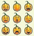 Holiday pumpkin jack lantern collection vector image vector image