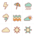 Icons Style weather Icons Set Design vector image vector image