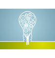 idea concept - bulb consist of gears vector image