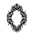 imperial baroque mirror frame french luxury rich vector image vector image