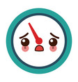 kawaii tachometer speedometer and indicator vector image