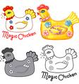 Magic chicken set vector image