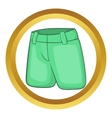 Mens classic shorts icon vector image vector image