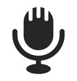 microphone icon piece musical or media vector image