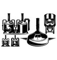 monochrome set various brewing machines vector image vector image