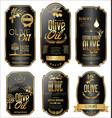 olive oil retro vintage gold and black labels vector image vector image