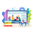 online training group lessons seminars vector image vector image
