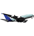 passenger airplane vector image vector image