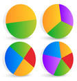 pie chart pie chart pie graph elements vector image vector image