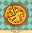 pizza plate vector image