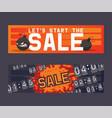 sale cartoon bomb on discount banner boom vector image vector image